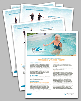 Use a swim spa exercise program to live well with parkinson's