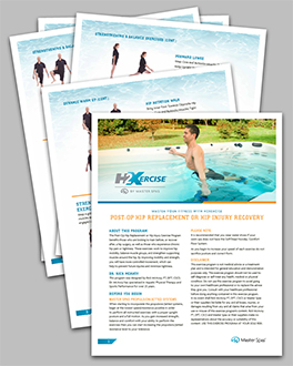 How to recover from hip replacement or injury with a master spas swim spa