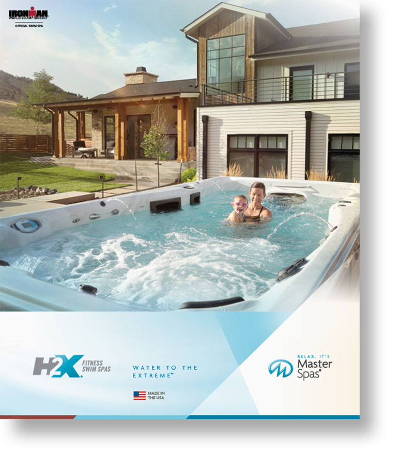 H2X swim spa brochure cover