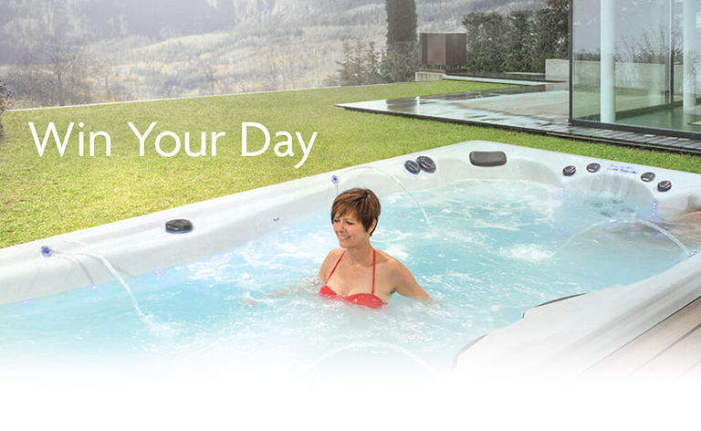 win your day with an h2x fitness swim spa by master spas