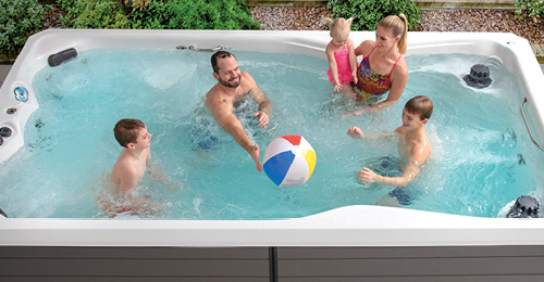 Skip installing a pool, an H2x swim spa can provide valuable family time