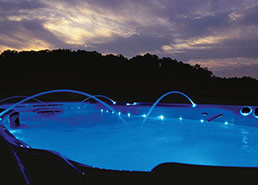 Water features on an H2X Swim spa