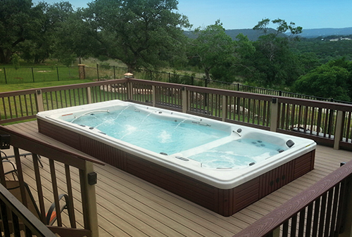 H2X Swim spas can be installed inset into a deck for convenience